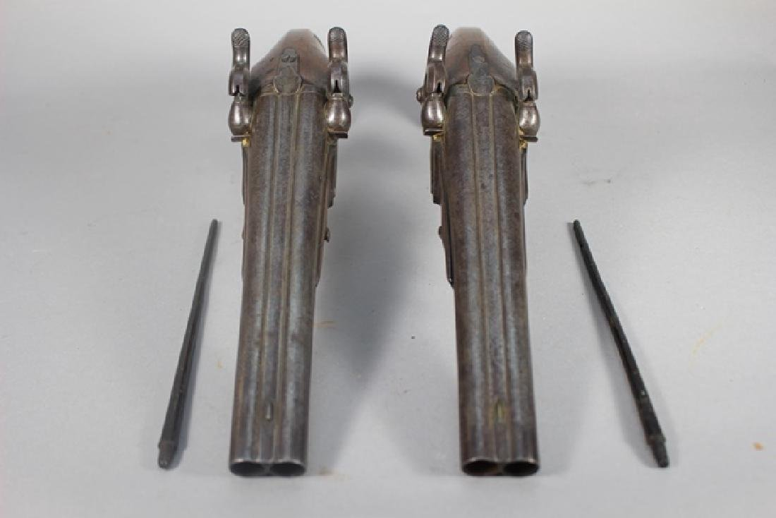 Pair of 19th  English Percussion Dueling Pistols - 6