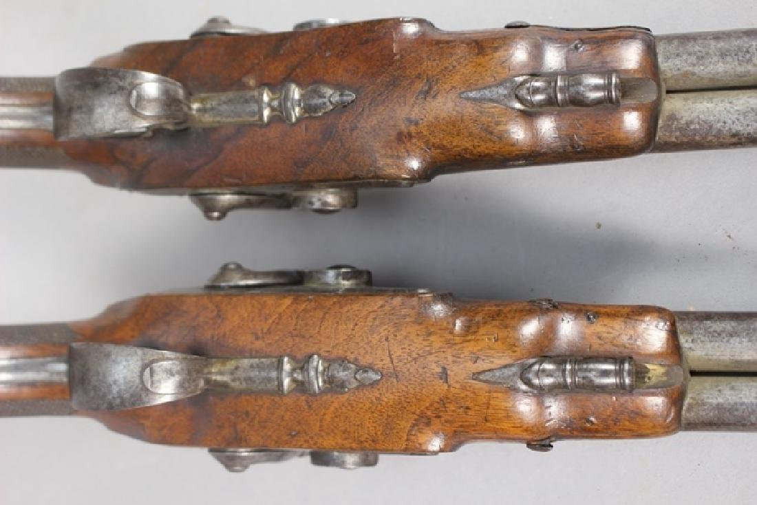 Pair of 19th  English Percussion Dueling Pistols - 8