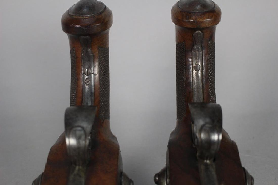 Pair of 19th  English Percussion Dueling Pistols - 9