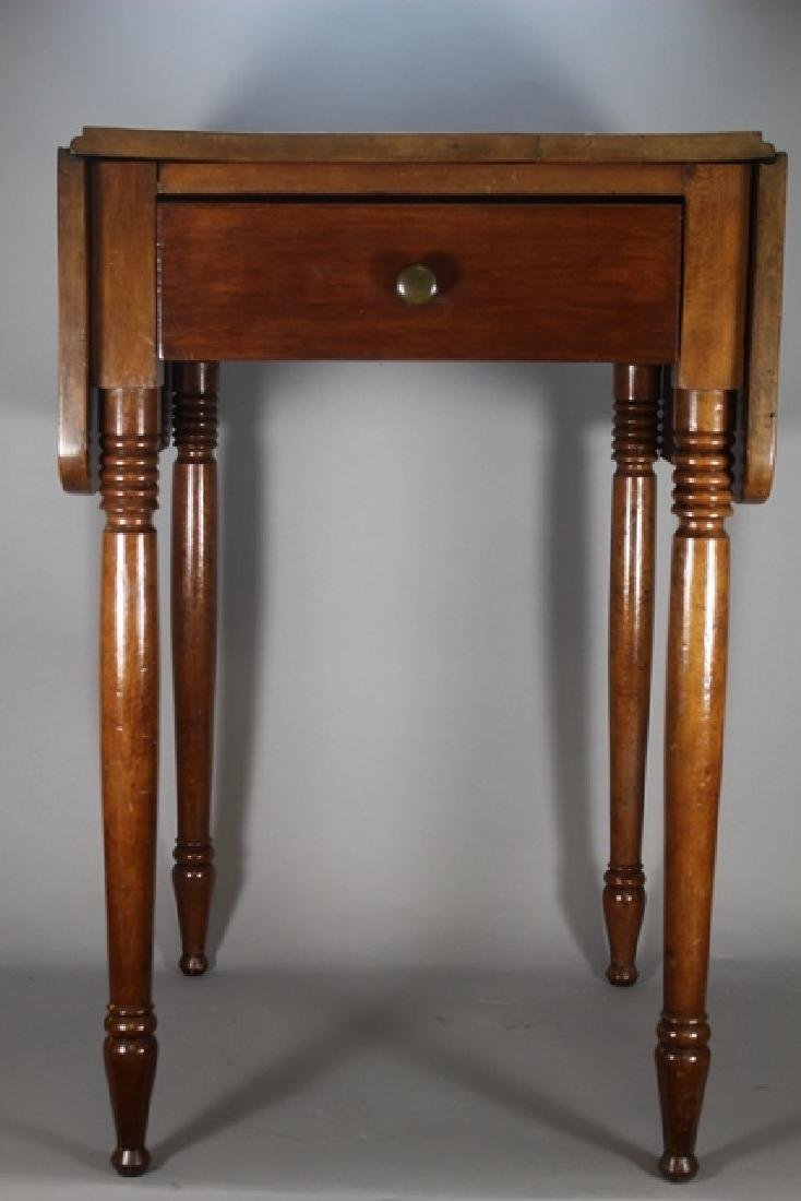 19th Century Cherry Drop Side Table