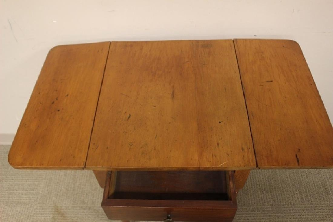 19th Century Cherry Drop Side Table - 4