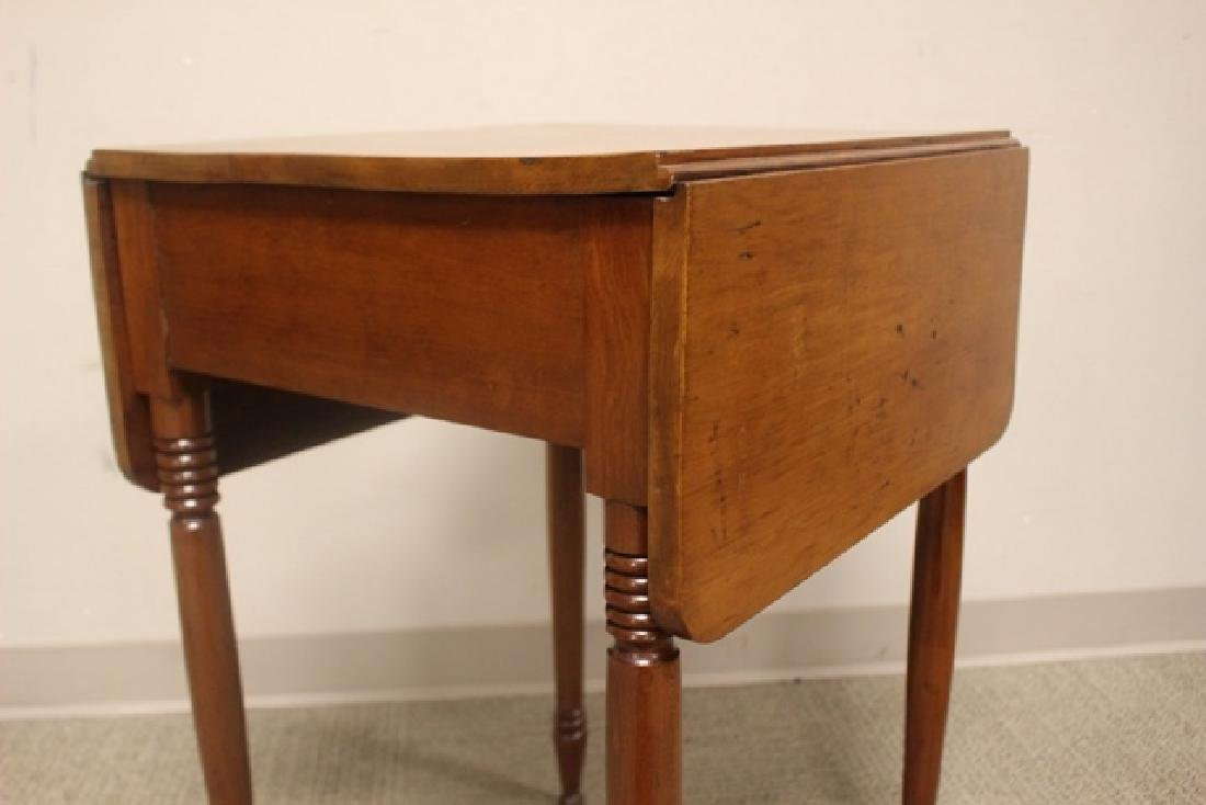 19th Century Cherry Drop Side Table - 7