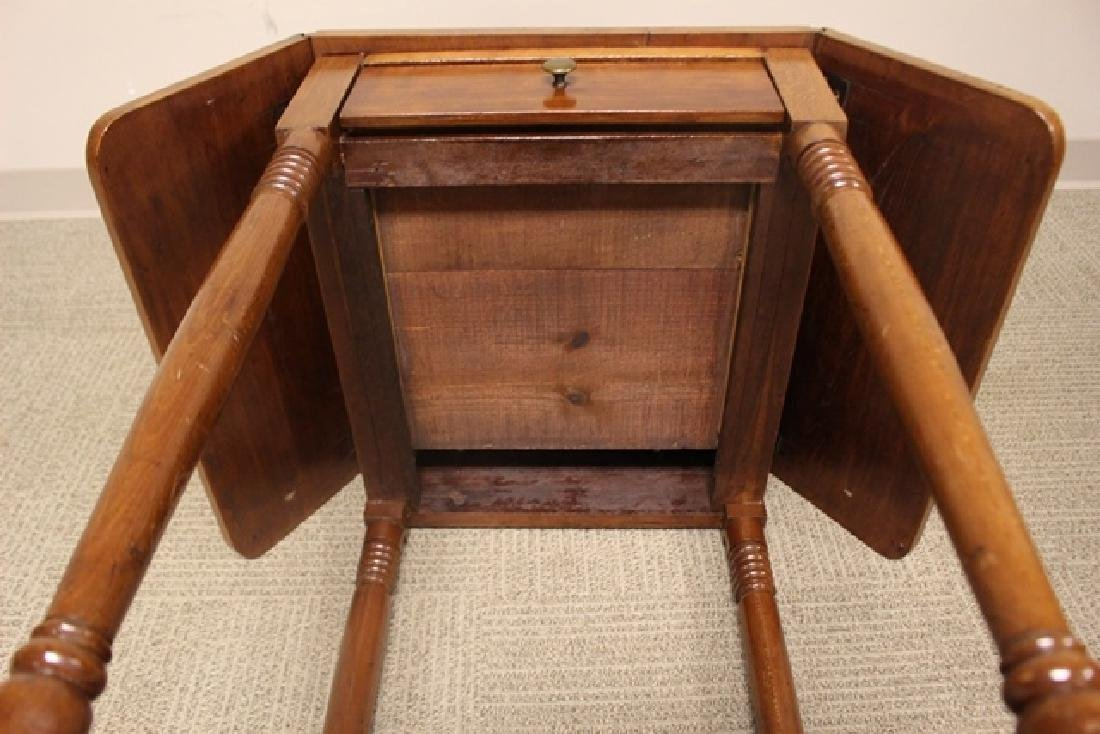 19th Century Cherry Drop Side Table - 8
