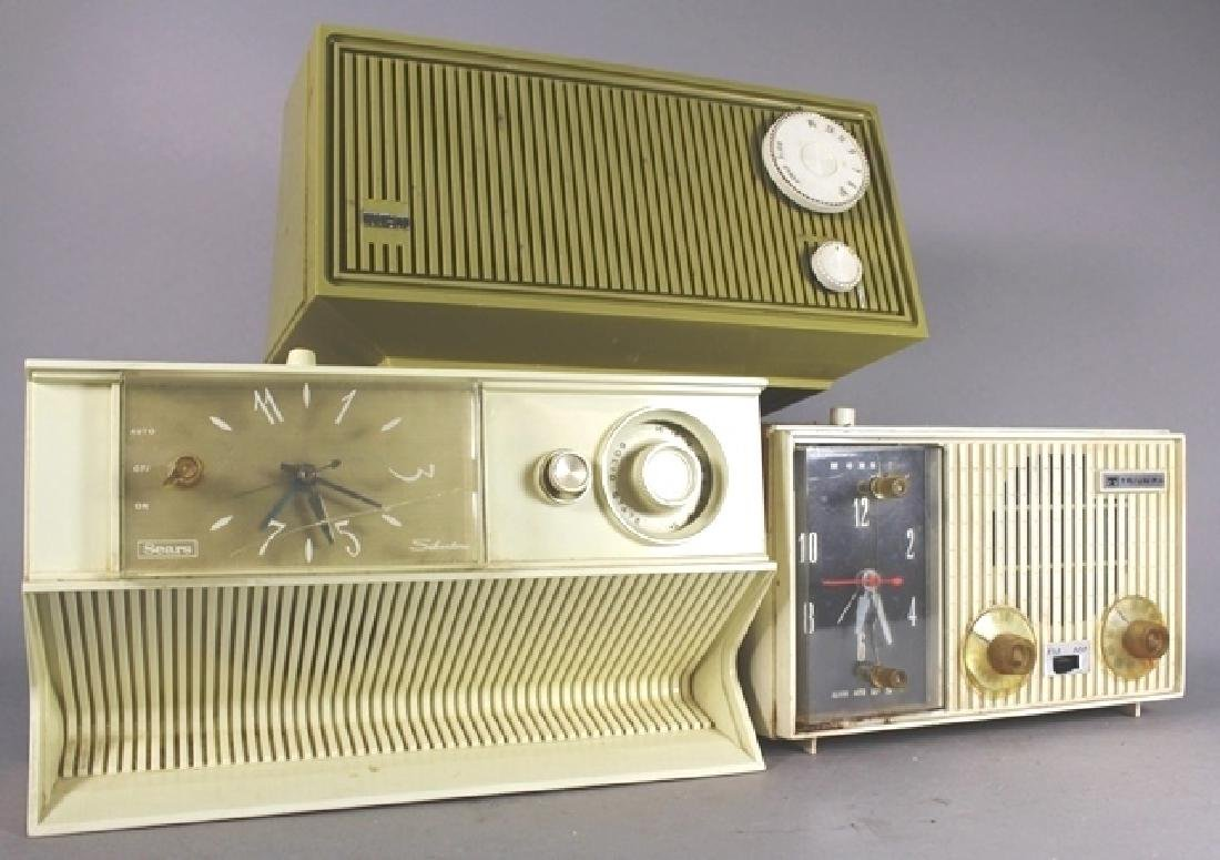 Collection of 3 20th C. Clock Radios