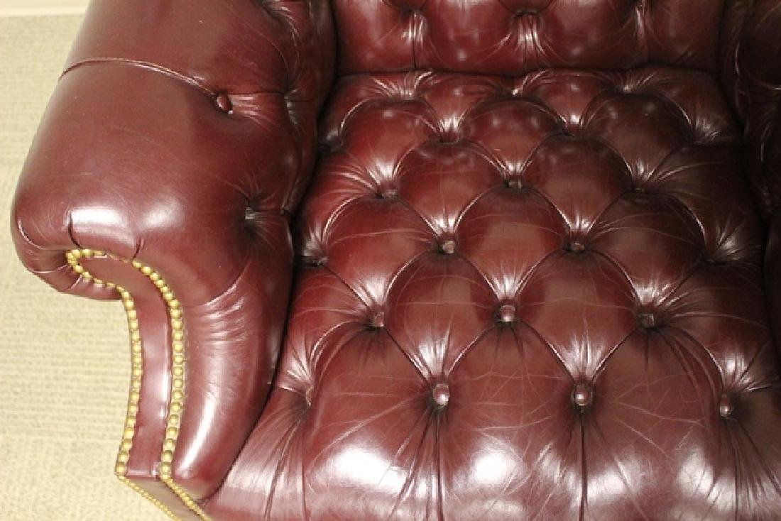 20th C. Burgundy Leather Lawyers Chair - 3