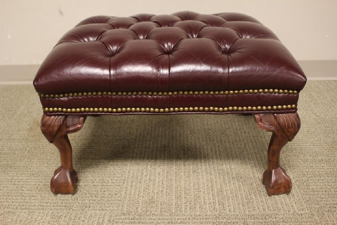 20th C. Burgundy Leather Lawyers Chair - 5