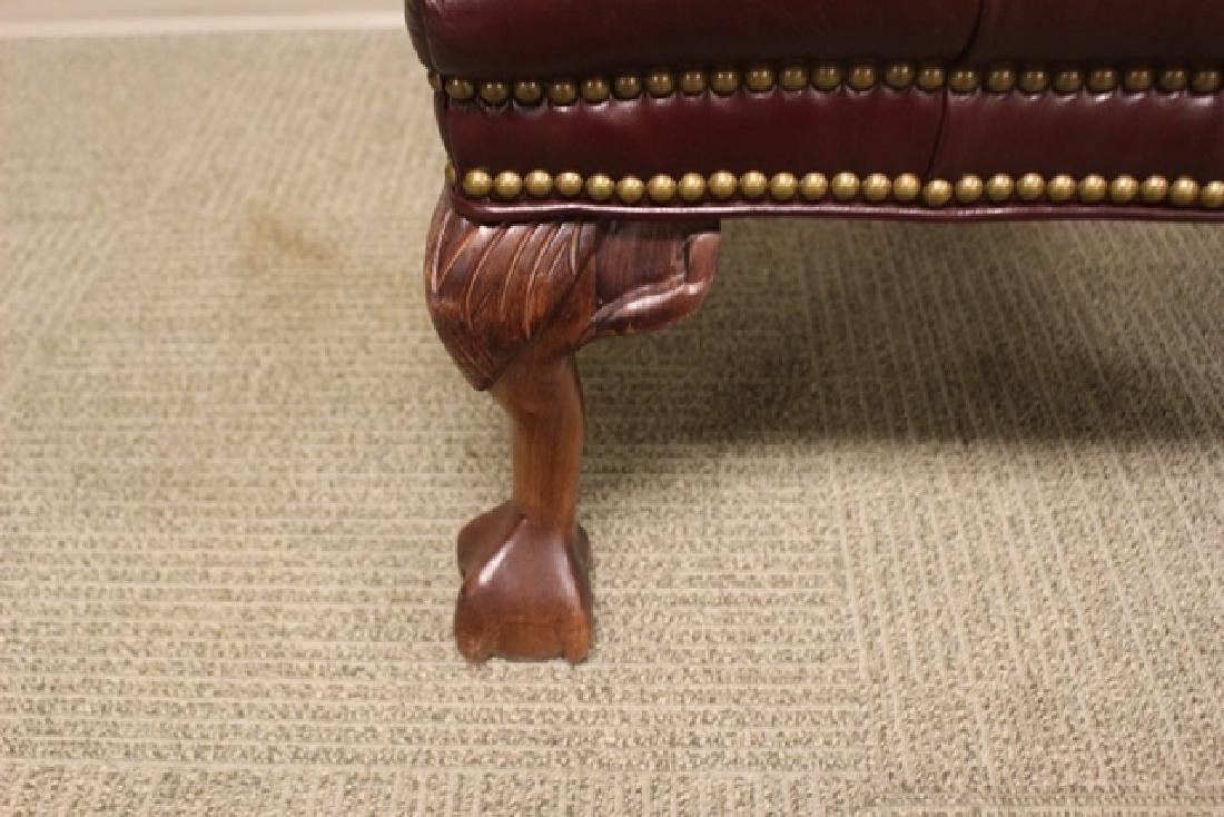 20th C. Burgundy Leather Lawyers Chair - 6