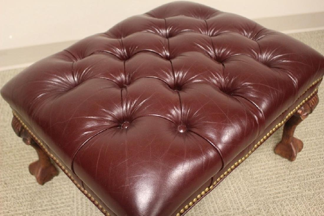20th C. Burgundy Leather Lawyers Chair - 7
