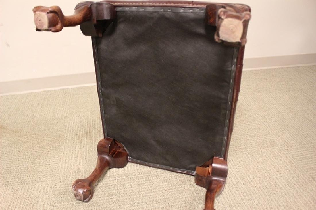 20th C. Burgundy Leather Lawyers Chair - 8