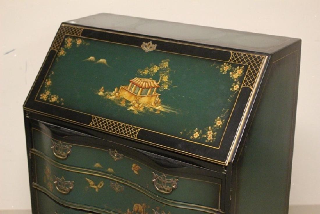 20th C. Oriental Influence Slant Front Desk - 3