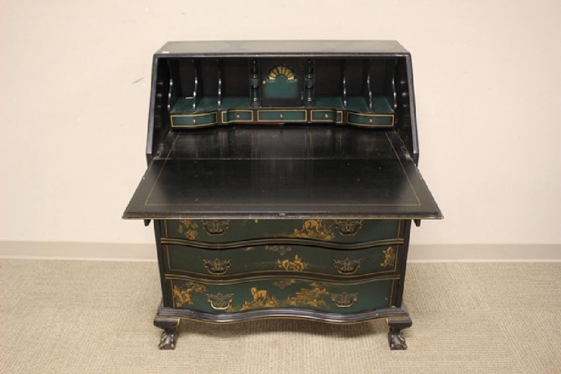 20th C. Oriental Influence Slant Front Desk - 4