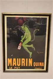 LEONETTO CAPPIELLO Maurin Quina Wine Advertising Poster