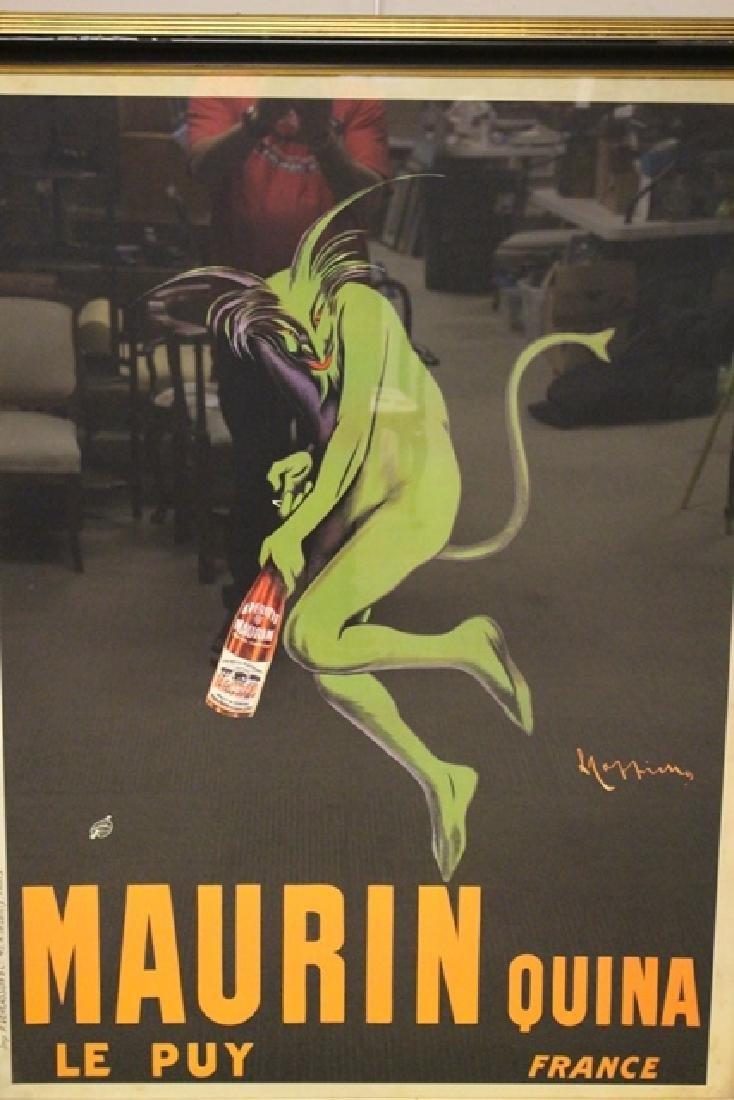 LEONETTO CAPPIELLO Maurin Quina Wine Advertising Poster - 2