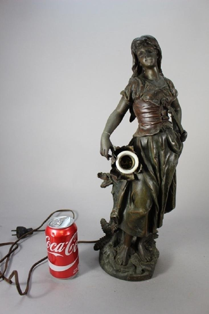 Signed  Victorian Figural Lamp - 10