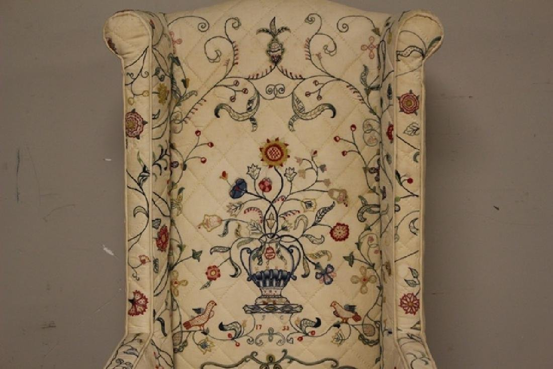 Early 19th C. Quilted Queen Anne Chair - 3