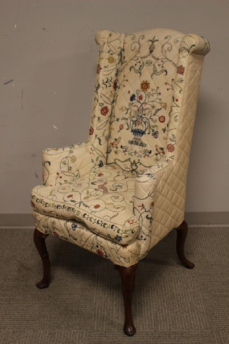 Early 19th C. Quilted Queen Anne Chair - 5