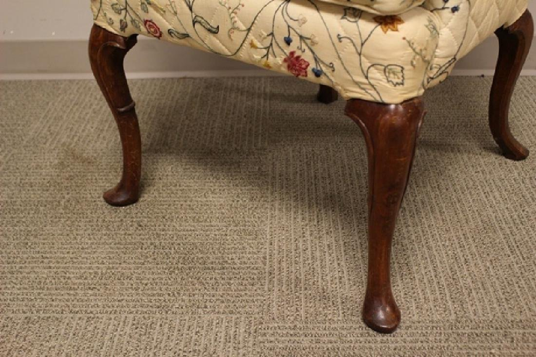 Early 19th C. Quilted Queen Anne Chair - 6