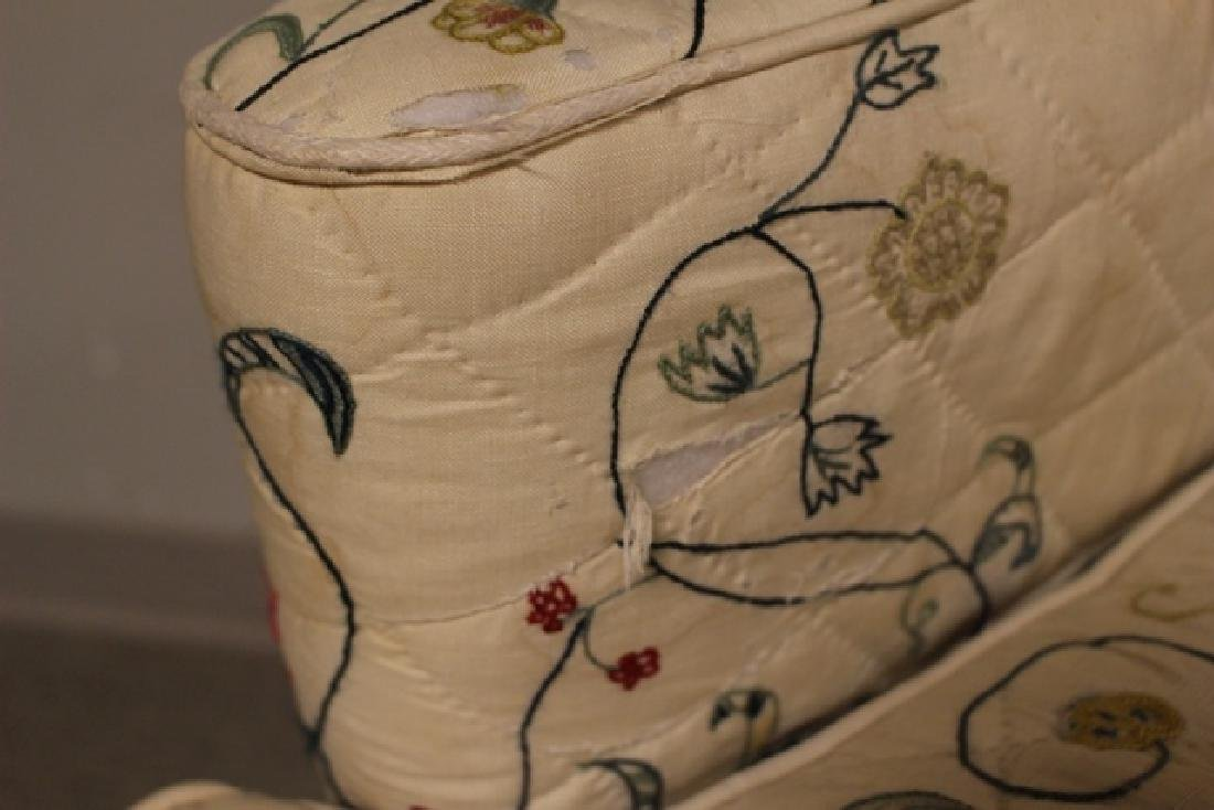 Early 19th C. Quilted Queen Anne Chair - 7