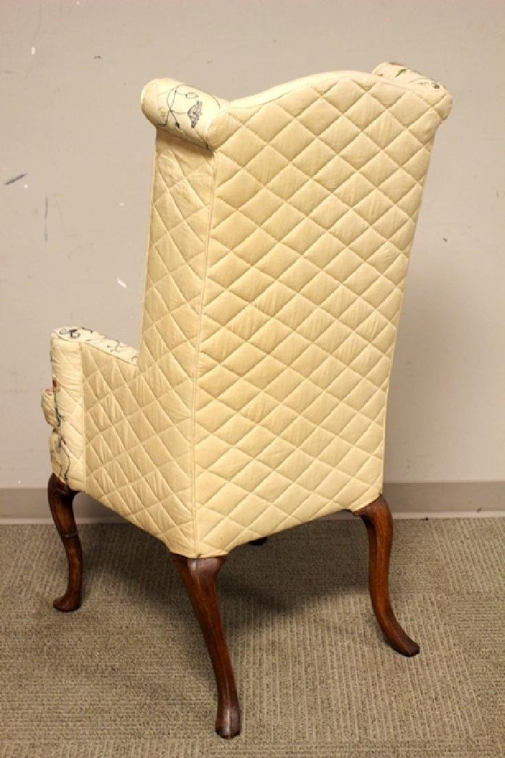 Early 19th C. Quilted Queen Anne Chair - 8