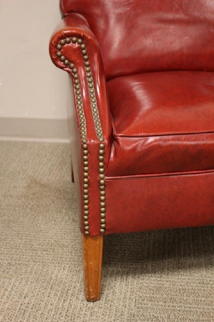 1940's Red Leather Gentelmans Chair - 2
