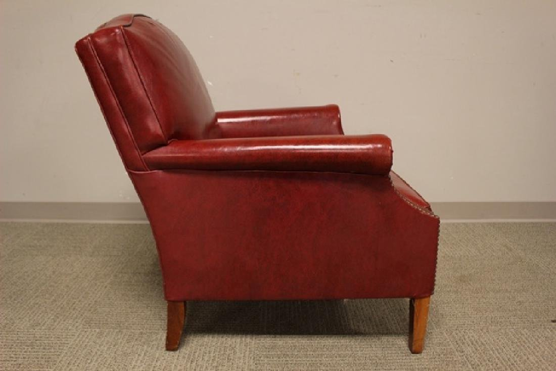 1940's Red Leather Gentelmans Chair - 3