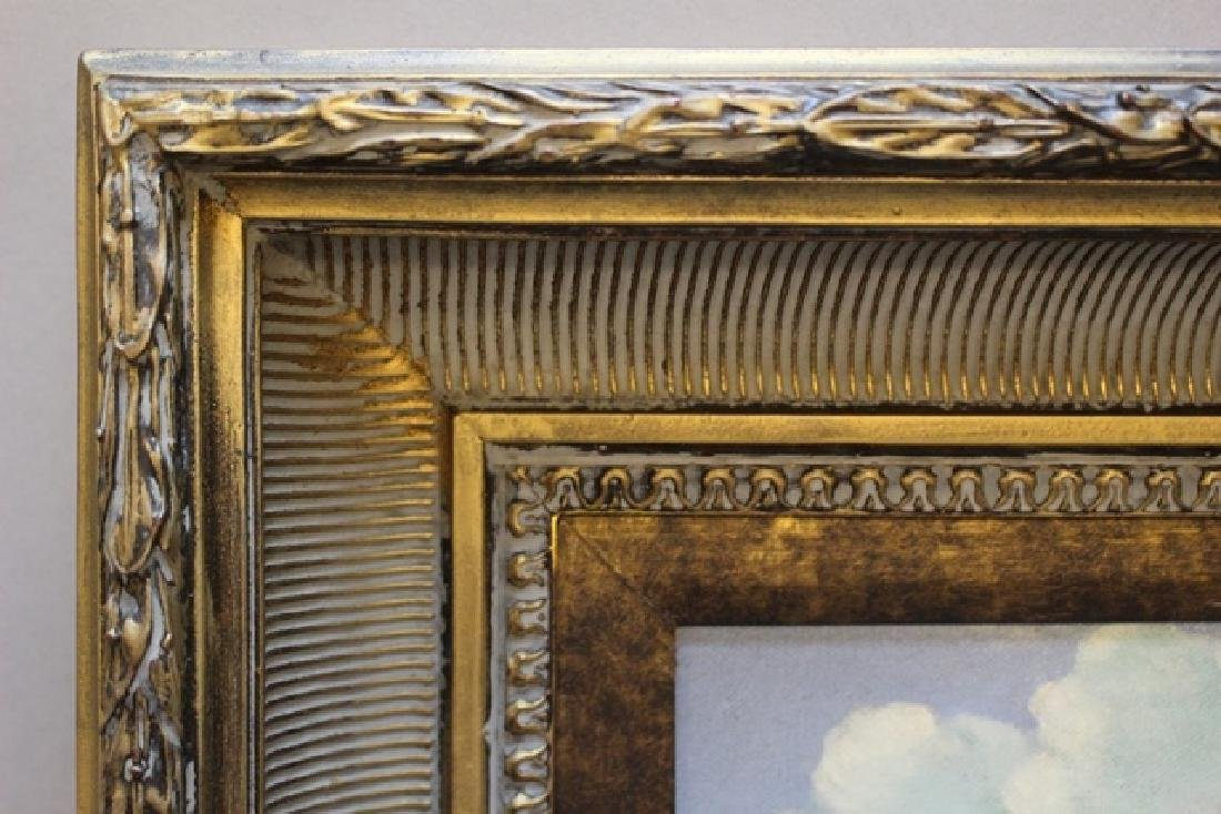 Collection of 4 Gilded Oil on Canvas Paintings of - 6