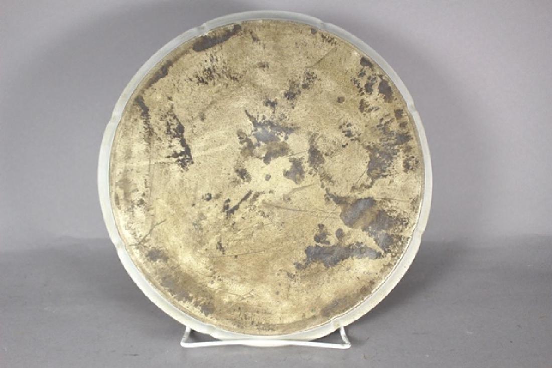 Porcelain Oriental Circle Platter with Geisha - 7