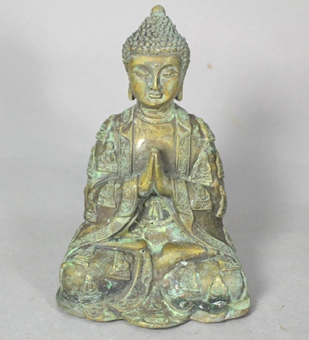 Ornate Brass Buddha Statue