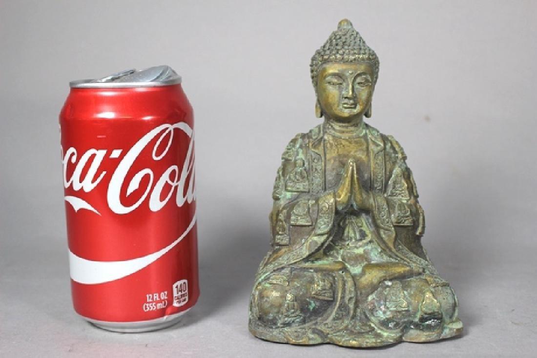 Ornate Brass Buddha Statue - 2