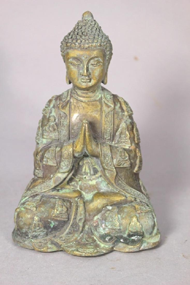 Ornate Brass Buddha Statue - 3