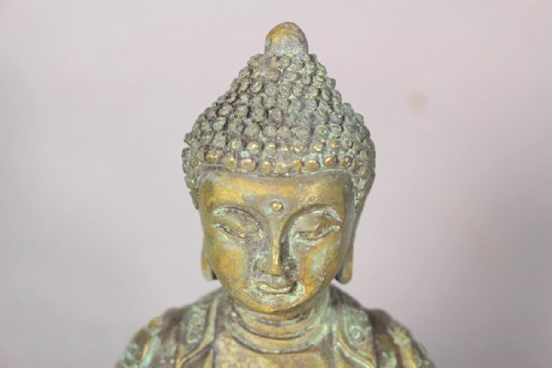 Ornate Brass Buddha Statue - 4