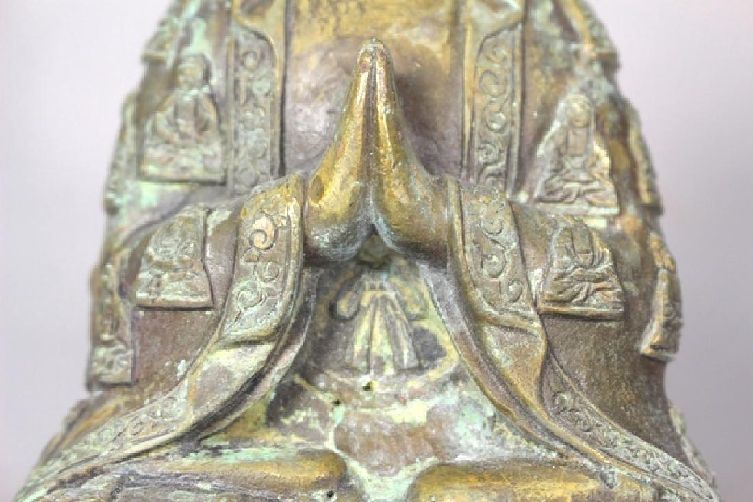 Ornate Brass Buddha Statue - 5