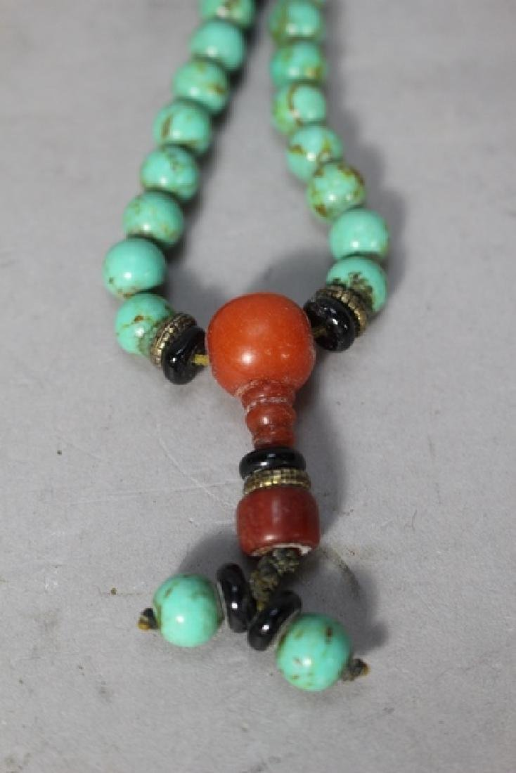 Chinese Turquoise Court Necklace & Raw Pendant - 5