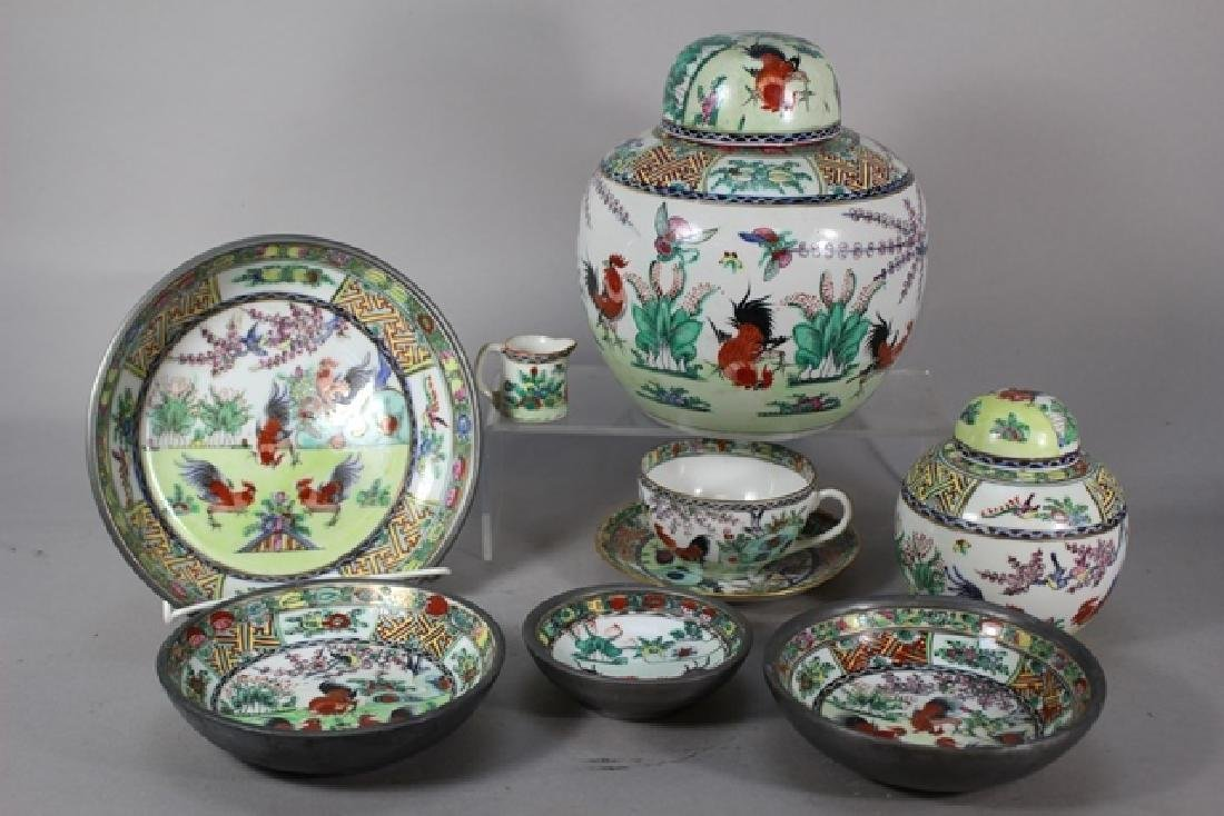 8pc Year of The Rooster Chinese Porcelain