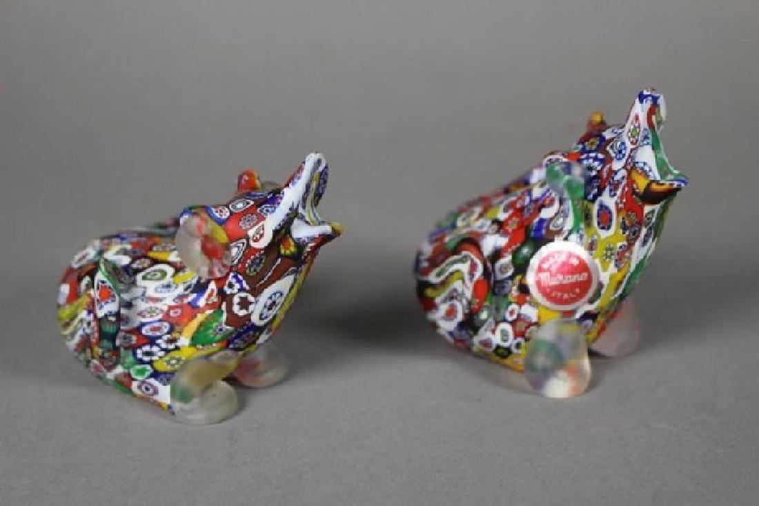 4 Murano Millefiori Art Glass Animals - 2