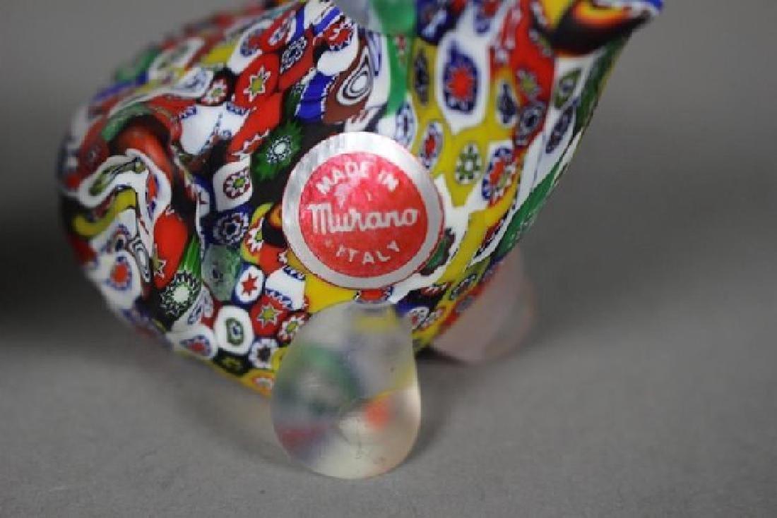 4 Murano Millefiori Art Glass Animals - 3
