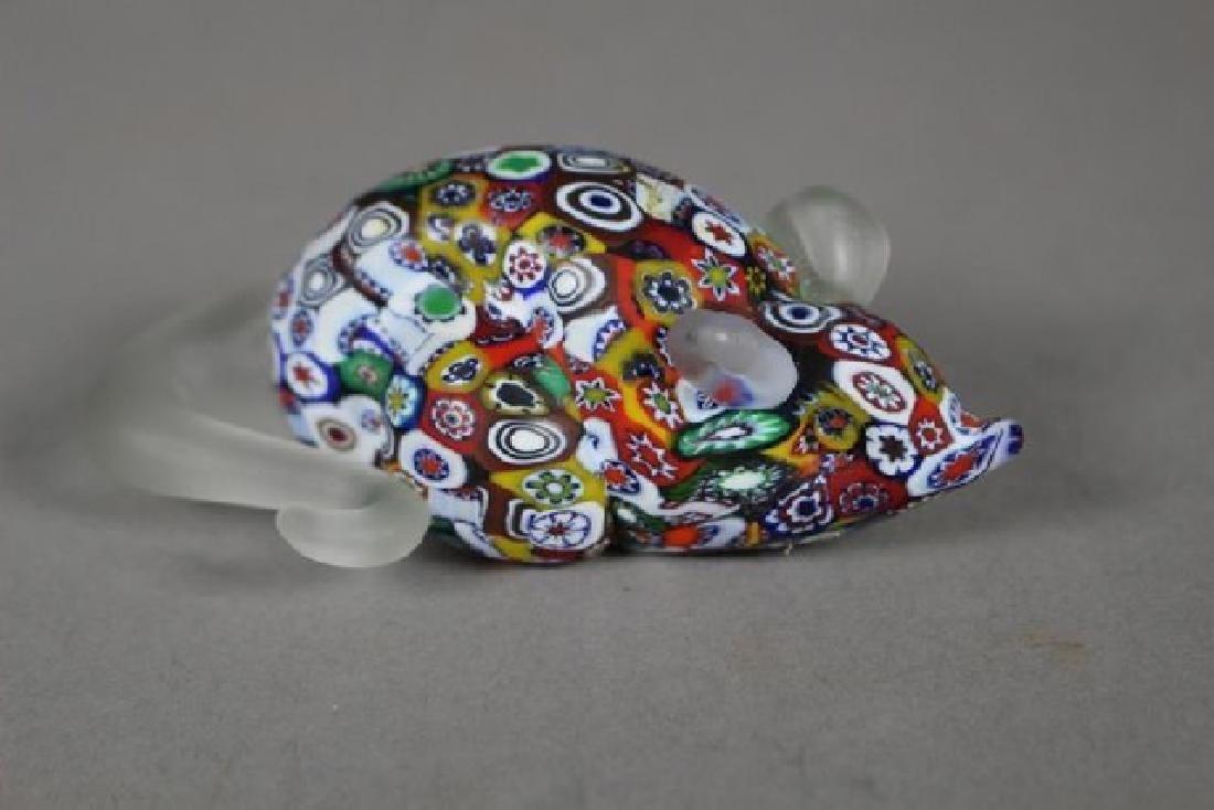 4 Murano Millefiori Art Glass Animals - 5