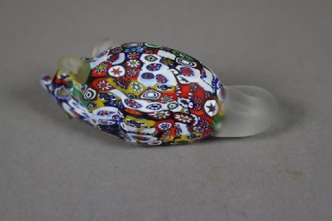 4 Murano Millefiori Art Glass Animals - 6