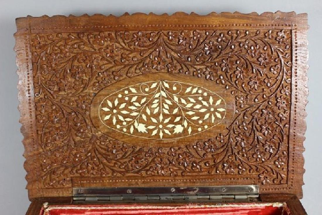 Teak Wood Carved Dresser Box - 4