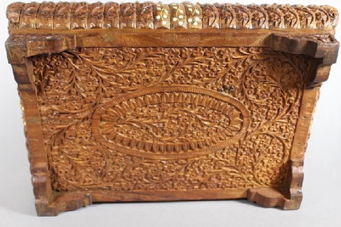 Teak Wood Carved Dresser Box - 7
