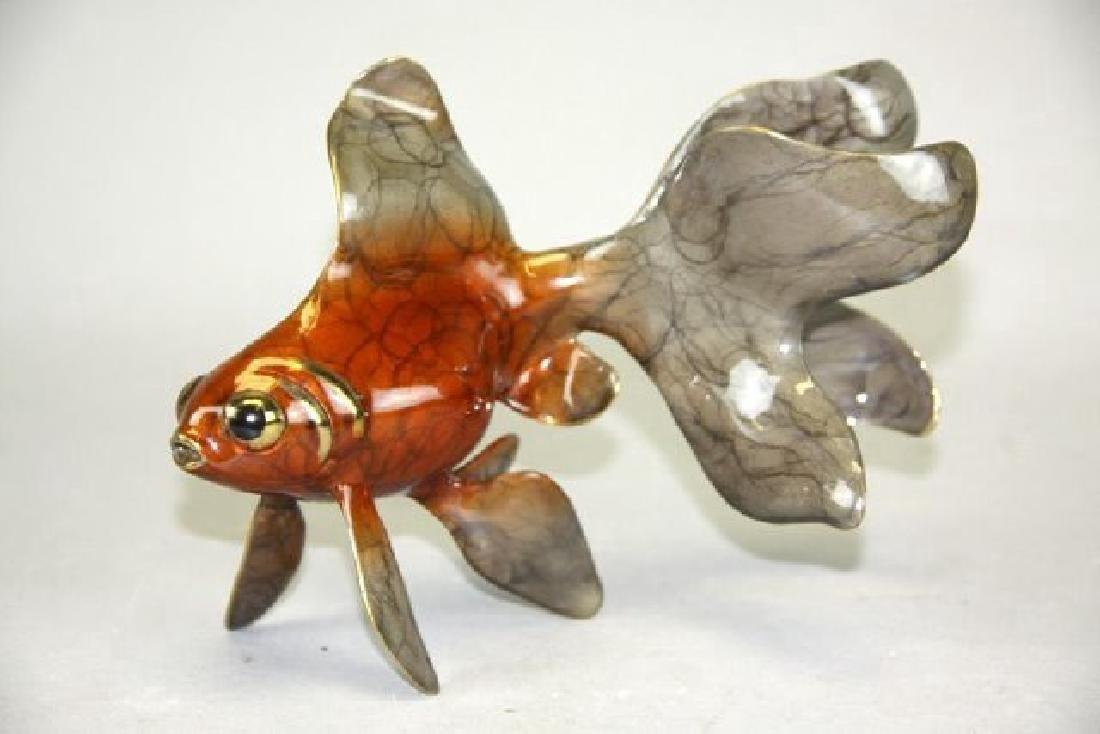 Flint Reisfelt Enameled Bronze Gold Fish