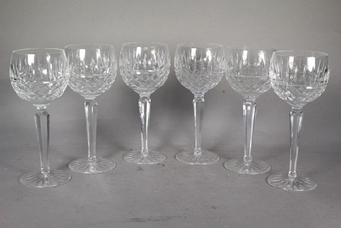6 Waterford LISMORE Wine Stems