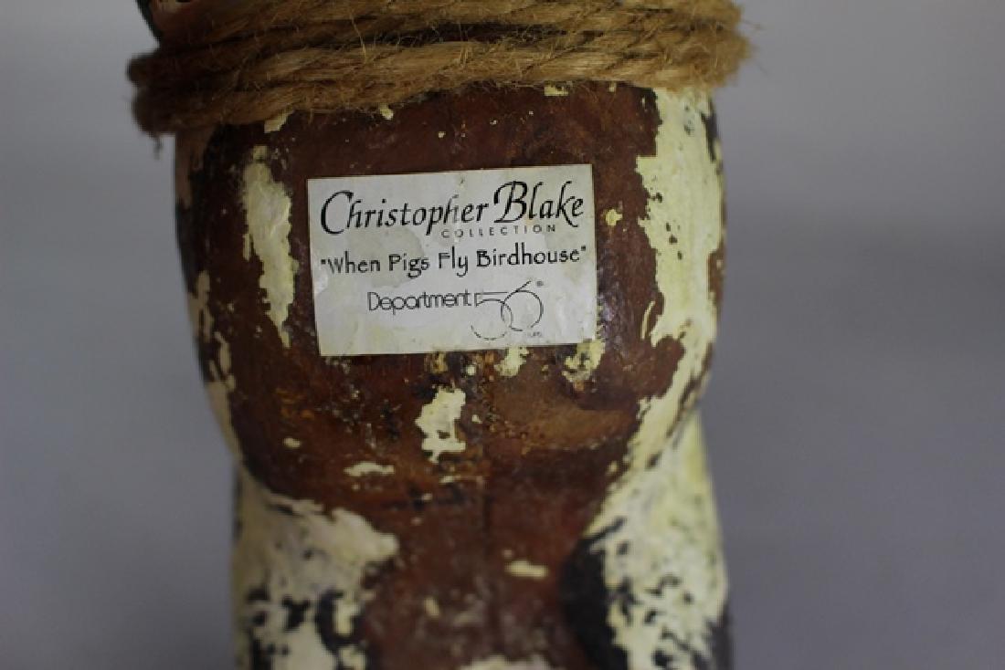 Christopher Blake Folk Art Pig - 7