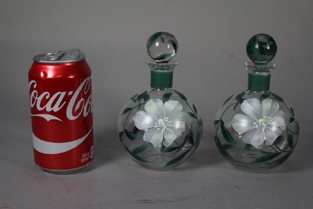Pair of Hand Painted Perfume Bottles - 2