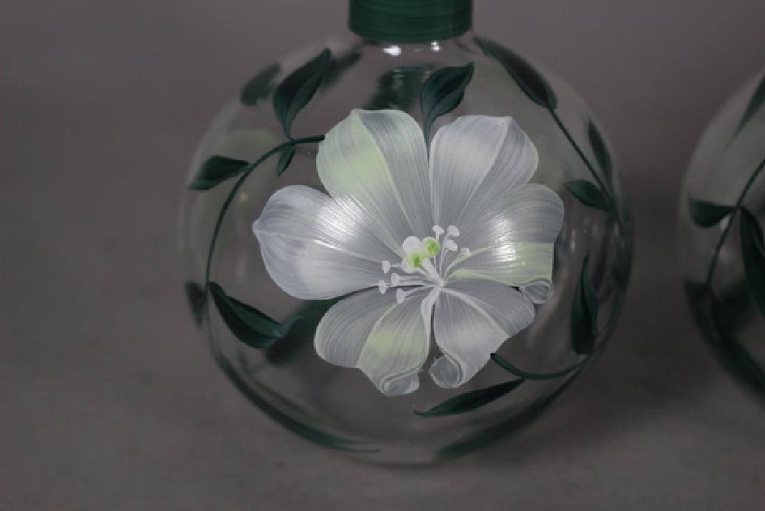Pair of Hand Painted Perfume Bottles - 3
