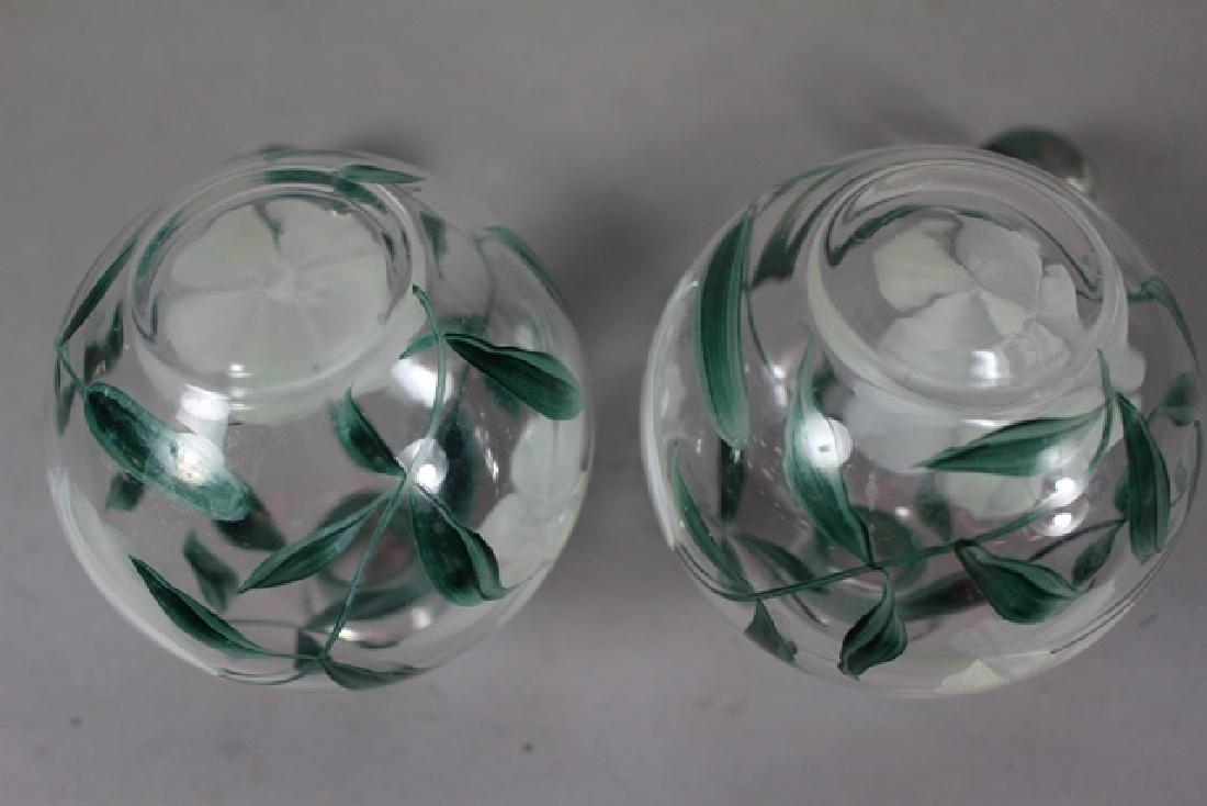 Pair of Hand Painted Perfume Bottles - 5
