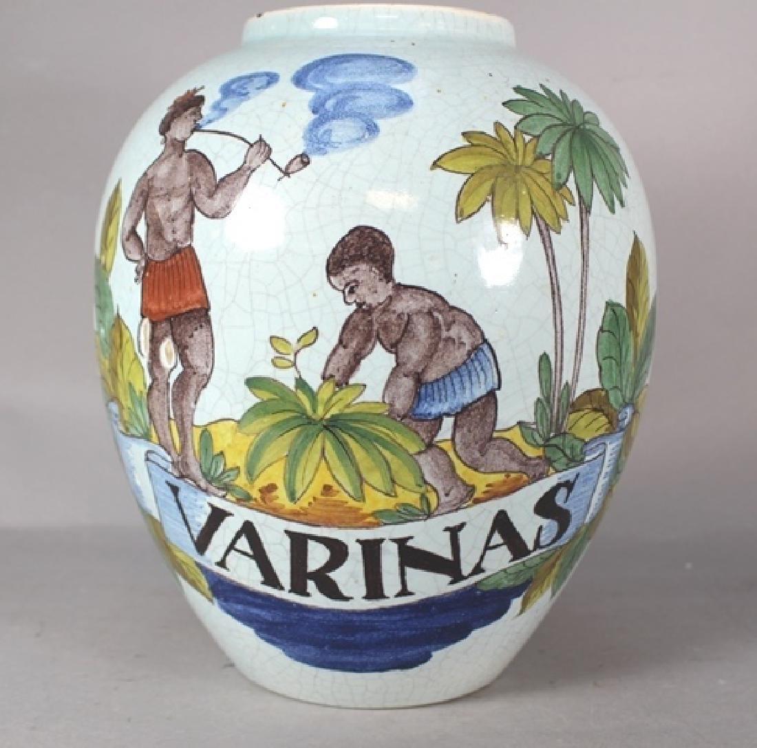 20th C. Bulbous Varinas Vase
