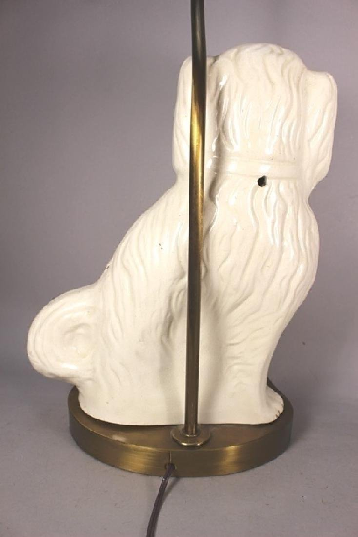 Pair of English Staffordshire Dog Lamps - 4