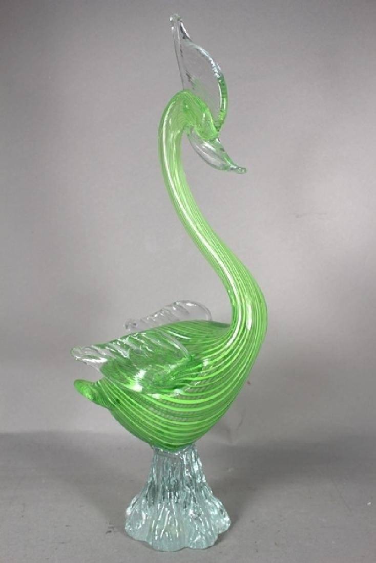 2 Italian Murano Art Glass Birds - 6