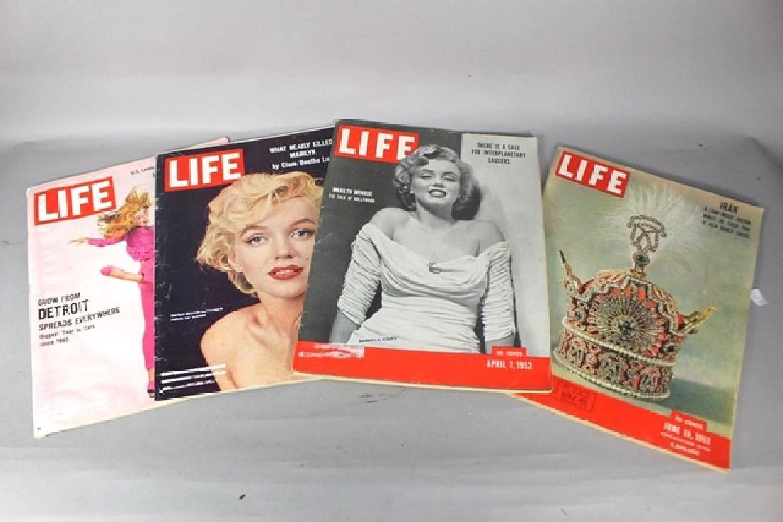 4 Life Magazines Marylin Monroe